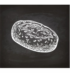 Bread sketch on chalkboard vector