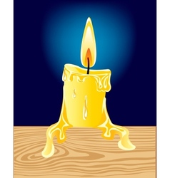 Burninging candle vector image