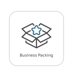 Business Packing Icon Flat Design vector image vector image