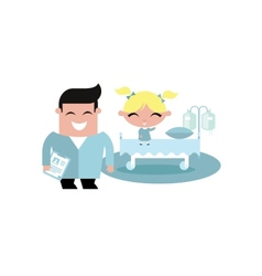 child kid hospital vector image