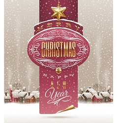 Christmas holidays greeting banner vector image