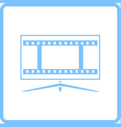 Cinema tv screen icon vector
