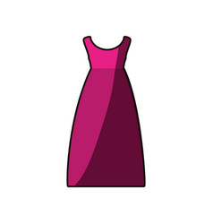 colorful drawing of fuchsia dress eighties retro vector image