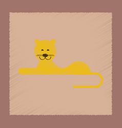 flat shading style icon cartoon lioness vector image