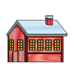 Gingerbread house decorated sugar christmas vector