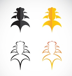 Goldfish and black goldfish on white background vector