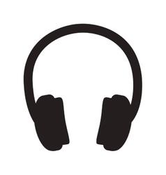 headphone audio device vector image vector image