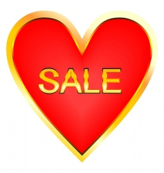heart for sale vector image vector image