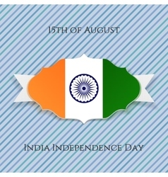 India independence day paper badge vector