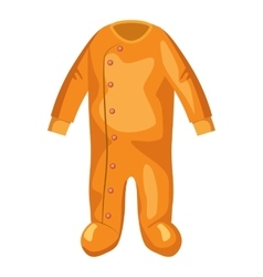 Jumpsuit for baby icon cartoon style vector image