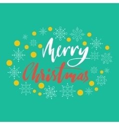 Merry christmas hand lettering handdrawn vector