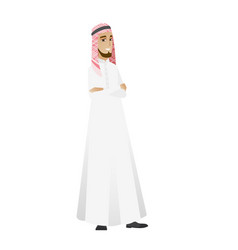 Muslim confident businessman with folded arms vector