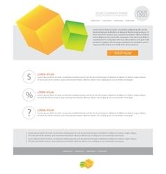 Newsletter business template vector