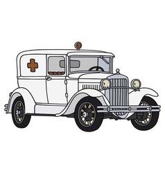 Old ambulance vector