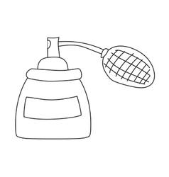 Perfume bottle template vector
