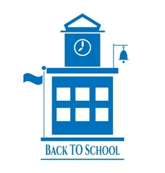 Picture of school building vector image