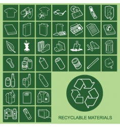 Recyclable materials vector