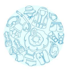 swimming circle vector image vector image