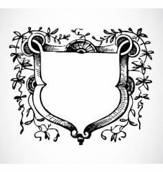vine floral frame vector image vector image