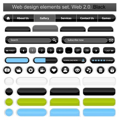 web design elements set white vector image vector image