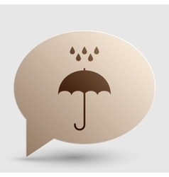 Umbrella with water drops rain protection symbol vector