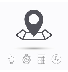 Location icon map pointer sign vector