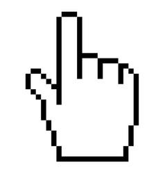 computer cursor hand indicator sign vector image