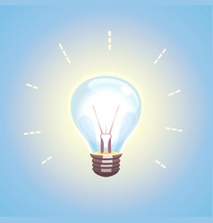 Lightbulb idea design concept vector
