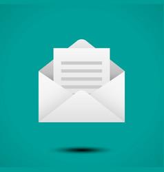 Open envelope for letter vector