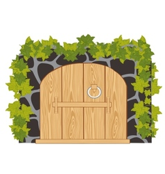 Wooden gates vector