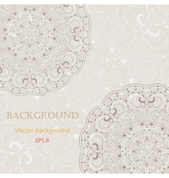 Beautiful arabesque lace pattern background vector