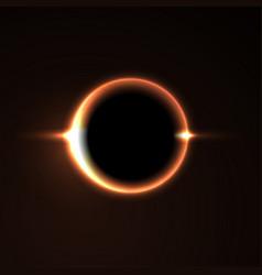 black hole solar eclipse light vector image
