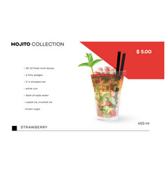 Mojito collection menu template with vector