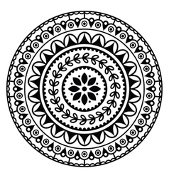 Mandala indian inspired round geometric pattern vector