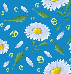 Pattern with chamomile vector