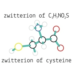 C3h7no2s zwitterion of cysteine amino acid vector