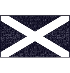 Scottish saltire national flag vector