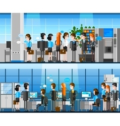 Office people cartoon composition vector