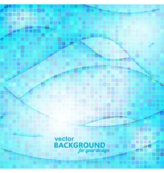 Abstract blue background with geometric elements vector image vector image