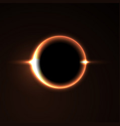 black hole solar eclipse light vector image