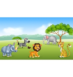Cartoon happy animal africa vector image