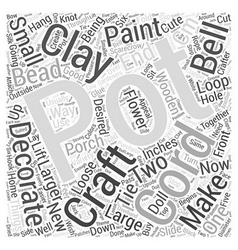 Clay pot crafts word cloud concept vector