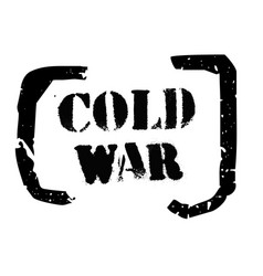 Cold war typographic stamp vector