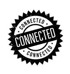 Connected rubber stamp vector