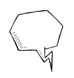 doodle speech bubble art vector image vector image