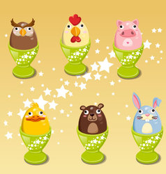 Easter egg images animals clip art vector