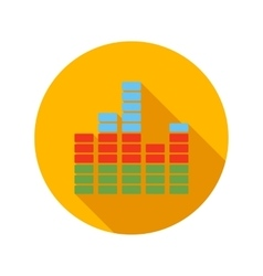 Equalizer scale flat icon vector
