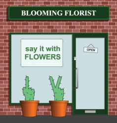 florist icon vector image vector image