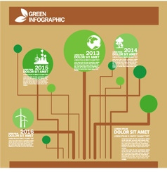 Green Eco info graphic tree design template vector image