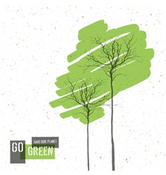green trees concept vector image